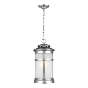 Newport Painted Brushed Steel 9-Inch One-Light Outdoor Hanging Lantern