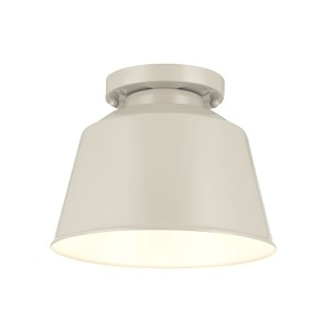 Freemont Hi Gloss Grey One-Light Outdoor Flush Mount