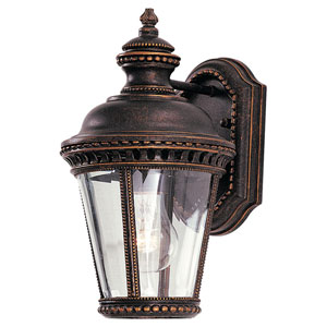 Castle Grecian Bronze One-Light Integrated LED Outdoor Wall Sconce