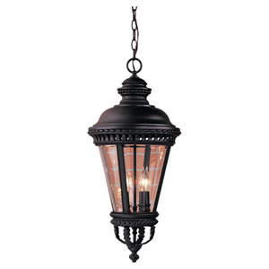Castle Large Black Outdoor Hanging Lantern