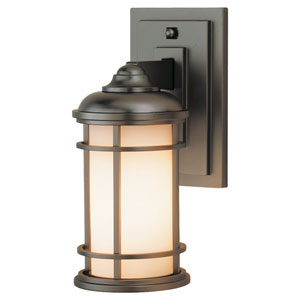 Lighthouse Burnished Bronze One-Light 4-Inch Wide Integrated LED Outdoor Wall Sconce