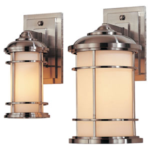 Lighthouse Wall Mount Sconce in Brushed Steel