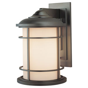 Lighthouse Burnished Bronze One-Light 9-Inch Wide Integrated LED Outdoor Wall Sconce