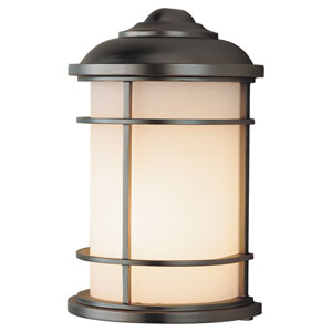 Lighthouse Burnished Bronze One-Light 7-Inch Wide Integrated LED Outdoor Wall Sconce