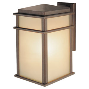 Mission Lodge Corinthian Bronze One-Light 9-Inch Wide Integrated LED Outdoor Wall Sconce