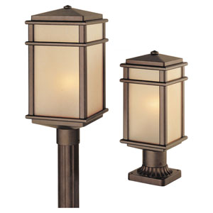 Mission Lodge Medium Bronze Outdoor Post/Pier Mount