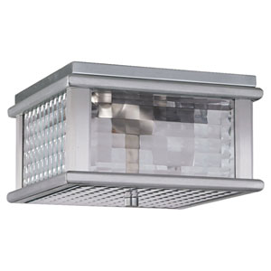 Monterrey Coast Brushed Aluminum Outdoor Flush Mount