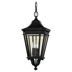Cotswold Lane Black One-Light 10-Inch Wide Integrated LED Outdoor Pendant