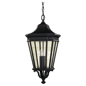 Cotswold Lane Black One-Light 12-Inch Wide Integrated LED Outdoor Pendant