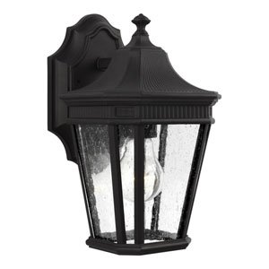 Cotswold Lane Black 7-Inch One-Light Outdoor Wall Lantern