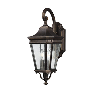 Cotswold Lane Grecian Bronze 8-Inch Two-Light Wall Lantern
