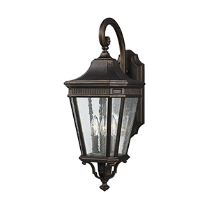 Cotswold Lane Grecian Bronze 10-Inch Three-Light Wall Lantern