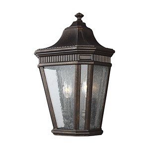 Cotswold Lane Grecian Bronze 16-Inch Two-Light Wall Lantern