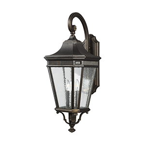 Cotswold Lane Grecian Bronze 12-Inch Three-Light Wall Lantern