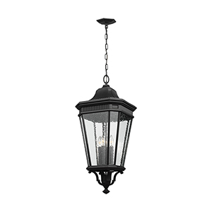 Cotswold Lane Black 31-Inch Four-Light Hanging Lantern