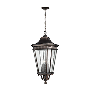 Cotswold Lane Grecian Bronze 31-Inch Four-Light Hanging Lantern