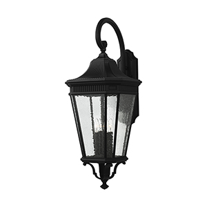 Cotswold Lane Black 36-Inch Four-Light Wall Lantern