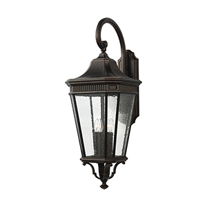 Cotswold Lane Grecian Bronze 36-Inch Four-Light Wall Lantern