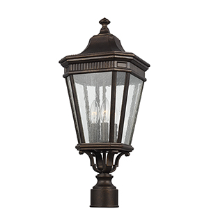 Cotswold Lane Grecian Bronze 10-Inch Three-Light Pier Lantern