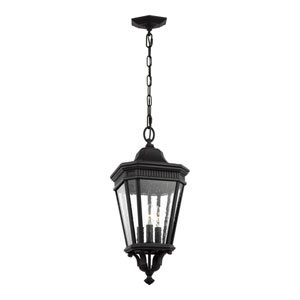 Cotswold Lane Black 10-Inch Three-Light Outdoor Hanging Lantern