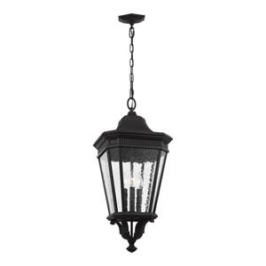 Cotswold Lane Black 12-Inch Three-Light Outdoor Hanging Lantern