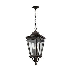 Cotswold Lane Grecian Bronze 12-Inch Three-Light Hanging Lantern