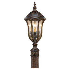 Baton Rouge Walnut Three-Light Outdoor Post Mount