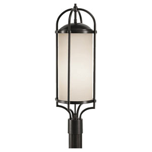 Dakota Espresso Three-Light Outdoor Post Light
