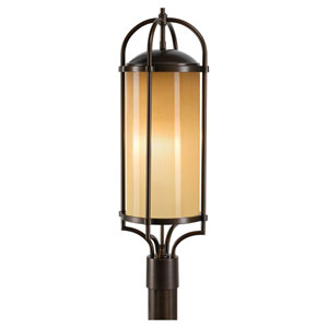 Dakota Heritage Bronze Three-Light Outdoor Post Light