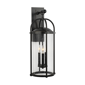 Dakota Espresso Three-Light Wall Lantern