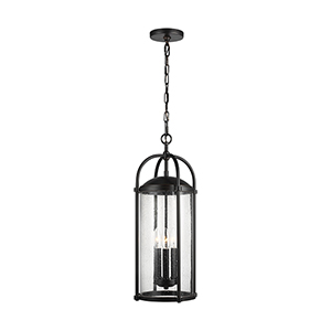 Dakota Espresso Three-Light Hanging Lantern