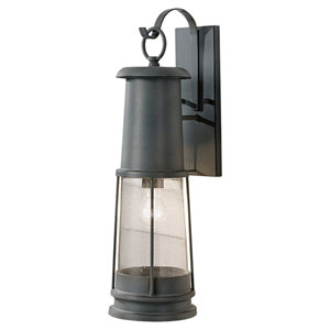 Chelsea Harbor Storm Cloud One-Light Seven-Inch Fluorescent Outdoor Wall Sconce