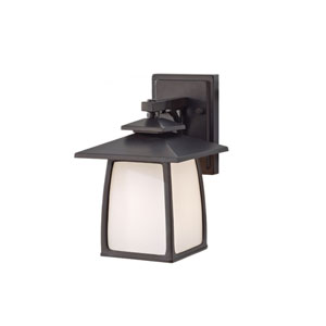 Wright House Oil Rubbed Bronze 10-Inch High One Light Outdoor Lantern