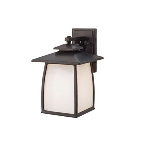 Wright House Oil Rubbed Bronze One Light Outdoor Lantern Wall Bracket