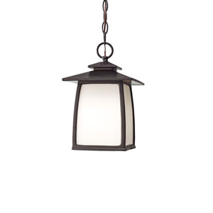 Wright House Oil Rubbed Bronze One Light Outdoor Lantern Hanging