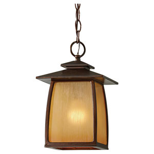 Wright House Sorrel Brown One-Light Integrated LED Outdoor Pendant
