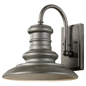 Redding Station Tarnished One-Light 12-Inch Wide Integrated LED Outdoor Wall Sconce