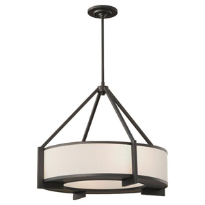 Stelle Oil Rubbed Bronze Drum Pendant