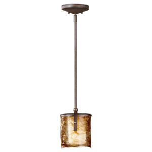 Aris Roman Bronze One-Light Chandelier