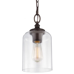 Hounslow Oil Rubbed Bronze One-Light Mini Pendant with Clear Glass