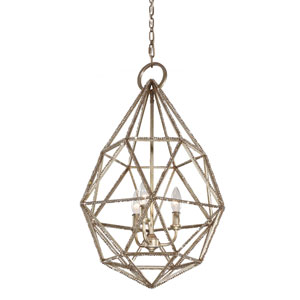 Marquise Burnished Silver Three-Light Pendant