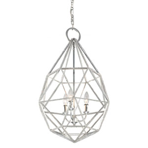 Marquise Silver Three-Light Pendant