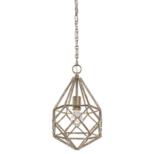 Marquise Burnished Silver One-Light Mini Pendant