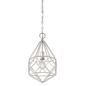 Marquise Silver One-Light Mini Pendant