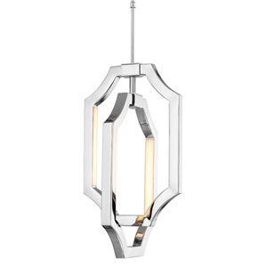 Audrie Polished Nickel Four-Light LED Mini Pendant