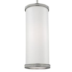 Pave Polished Nickel One-Light Mini Pendant
