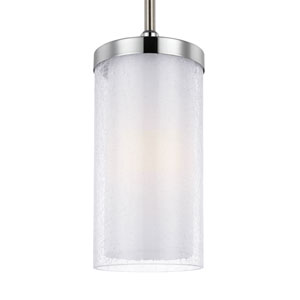 Jonah Satin Nickel and Chrome One-Light Mini Pendant