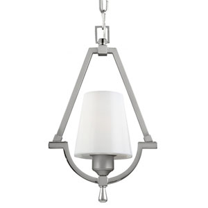 Preakness Satin Nickel One-Light Mini Pendant