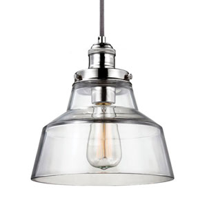 Baskin Polished Nickel One-Light Pendant