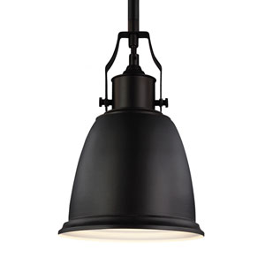 Hobson Oil Rubbed Bronze One-Light 8-Inch Wide Mini Pendant